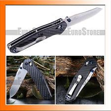 Authentisch Messer GANZO F756-2 / F7562-CF / 440C / Kohlefaser / Axis Lock