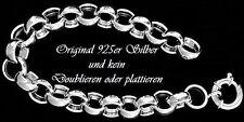 echt 925 Sterlingsilber edles Damen Armband silber Kette Doppelglieder Armreif