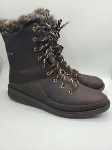 Merrell Womens Tremblant Ezra Zip Waterproof Ice+ Brown Boots Size 10