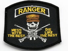 LOT of 15 Ranger Patches Mess With The Best Die Like The Rest US Military NEW