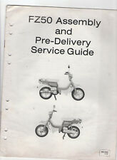 SUZUKI FZ50 ASSEMBLY & PRE-DELIVERY SERVICE GUIDE / INSTRUCTIONS / MANUAL 1979