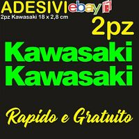 Kit 2 Adesivi Kawasaki 636 zx6r zx10r Z900 z750 z1000 er6n versys Stickers VERDE
