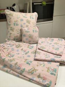 Laura Ashley Girls Bedding With Matching Curtains & Cushion
