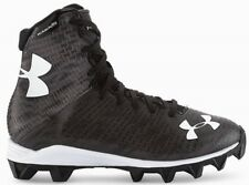 NEW YOUTH UNDER ARMOUR UA HIGHLIGHT RM sz 6Y BLACK GRAY White Football Cleats