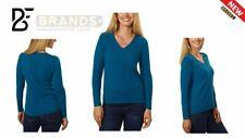 Belford Ladies' V-neck Cashmere Sweater Plum Purple Size Medium