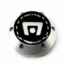 "Motegi Racing Carbon Chrome Wheel Center Hub Cap 2.42"" for MR7 MR15 Rims"