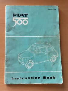 CLASSIC FIAT 500 TYPE 110F INSTRUCTION BOOK 17TH EDITION 1965 OWNERS MANUAL