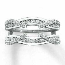 Wrap Ring 925 Sterling Silver 0.50 Ct Diamond Engagement Enhancer Wedding