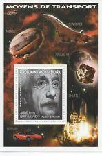 Albert Einstein modos de transporte concorde Apollo 11 espacio Mnh Sello sheetlet