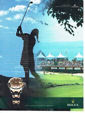 Publicité Advertising 107   2011  Evian mastes  golf montre ROLEX oyster lady-da
