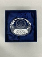 """Nice Etched Glass """"Department Of State"""" Paperweight"""