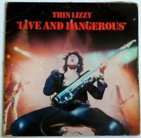 Thin Lizzy Live And Dangerous Double LP Gatefold VINYL 1978  Ireland Phillips
