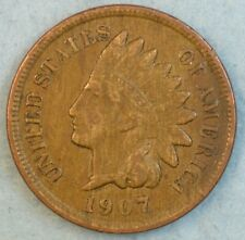 1907 Indian Head Cent Penny Liberty Very Nice Vintage Old Coin Fast S&H 34014