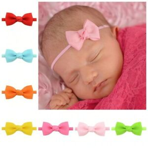 Baby Girl Headband Newborn baby's Hair Accessories Toddlers Ribbon Random color