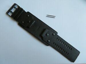 DIESEL Original Ersatzband Lederarmband DZ4272  Uhrband black watch strap 26 mm