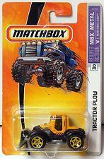 MATCHBOX 2005 TRACTOR PLOW #30 YELLOW