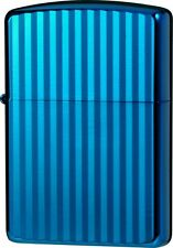 ZIPPO Lighter Titanium Coating AQUA Blue Double Side Designed 62RIBL-RIP ARMOR