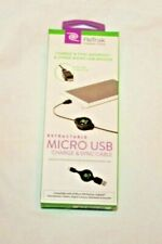 ReTrak Essentials Black Retractable Micro USB Charge & Sync Cable   V4-0716