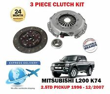 FOR MITSUBISHI L200  2.5TD 4x4 ANIMAL 1996-2007 3 PIECE CLUTCH KIT COMPLETE