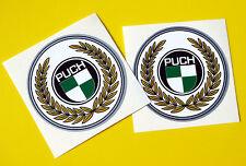 PUCH Coppia di Head Badge Stile Vintage Telaio Bicicletta Decalcomanie Adesivi Inchiostro Metallico