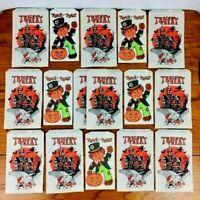 Vintage Halloween Trick or Treat Loot Bags Lot of 16