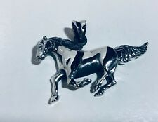 NEW .925 sterling silver necklace pendant HORSE large jewelry wholesale #JJ21