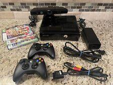 Microsoft Xbox 360 Bundle - 2 Controllers - Kinect - 3 Games - Black - Nice