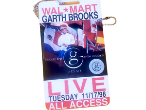 Garth Brooks All Access Pass 1998 Wal Mart Tuesday 11-17-98 Double Live Tour