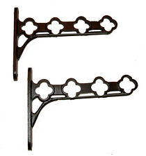 Pot / Pan / Rack Radiator shelf Towel Airer Bracket Kit Black Cast Iron