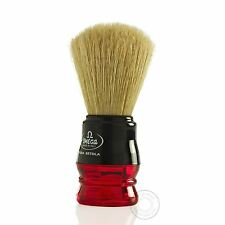 Omega 10077 Pure Bristle Shaving Brush - Red