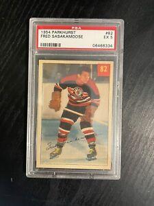 1954-55 Fred Sasakamoose Parkhurst Rookie Card! Psa 5! Centered!