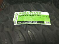 4 NEW 37 13.50 22 Wide Climber MT Tires Mud  Light Truck 10 ply 37x13.50-22 LT