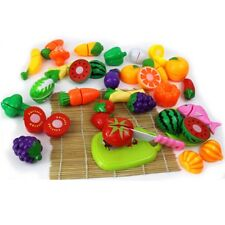 Kids Early Playing Fruit Vegetable Cutting Kitchen Child Safety Preschool Toys