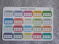 20 Hydrate Trackers -Planner/Diary/Scrapbooking Stickers-Hand Drawn- GlossyPaper