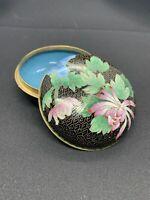 Asian Enamel Painted Metal Trinket Box(Cloisonné)