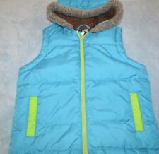 Girls size 140 9 - 11 years Hanna Andersson Down filled zip front vest jacket