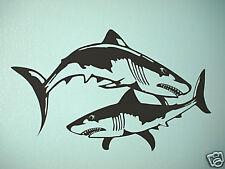 Shark fins fish wall mural vinyl decal sticker art