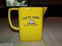 VINTAGE BAR LIQUOR CUTTY SARK SCOTS WHISKEY YELLOW PITCHER