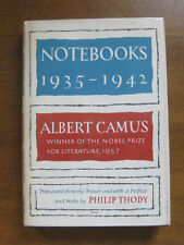 NOTEBOOKS 1935-1942 by Albert Camus -  1st/1st HCDJ 1963  - FINE  -  $5.00
