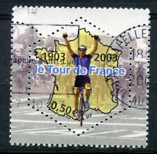 TIMBRE FRANCE OBLITERE N° 3583 SPORT / CYCLISME / Photo non contractuelle