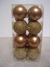 16 Gold Shatter Resistent Christmas Ornament Decoration