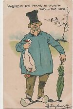 POSTCARD  COMIC  A Bird in the Hand...    Dudley  Hardy