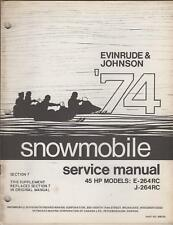1974 EVINRUDEJOHNSON SNOWMOBILE 45HP SERVICE SUPPLEMENT
