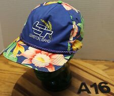 LCT LEWISTOWN IDAHO HAT FLOWER PRINT SNAPBACK ADJUSTABLE IN VERY GOOD COND A16