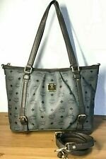 MCM Original  Visetos  Shopper Schulter Henkel Tasche Cross Bag Grau M