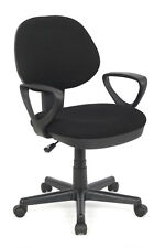 SixBros. Bürostuhl Chefsessel Drehstuhl Schreibtischstuhl Schwarz H-2231F/1324
