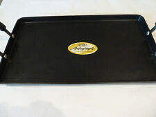 PAMPERED CHEF Professional Cookware DOUBLE BURNER pancake GRIDDLE 2767 anodized