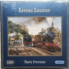New Sealed Barry Freeman Living Legend 500 Piece Jigsaw Puzzle Steam Trains