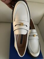 Stuart Weitzman Women's Penley White Leather Loafers