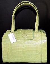 NANCY Gonzalez Crocodile TOTE Satchel HandBAG Citrus Shoulder Lime Green NEW